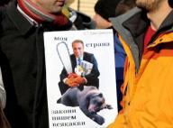 Плакат срещу Емил Димитров на еко-протест